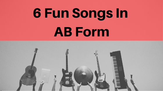 image 6 fun songs in ab form