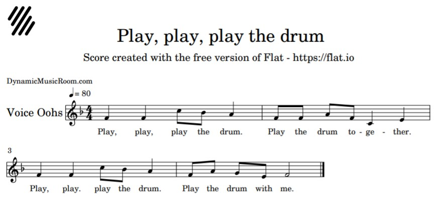 image play play play the drum notation