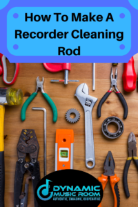 image how to make a recorder cleaning rod pin