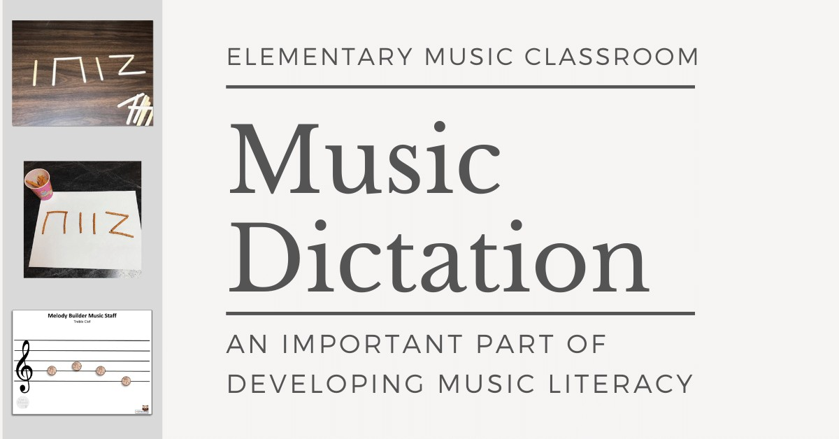 image music dictation in the elementary grades banner
