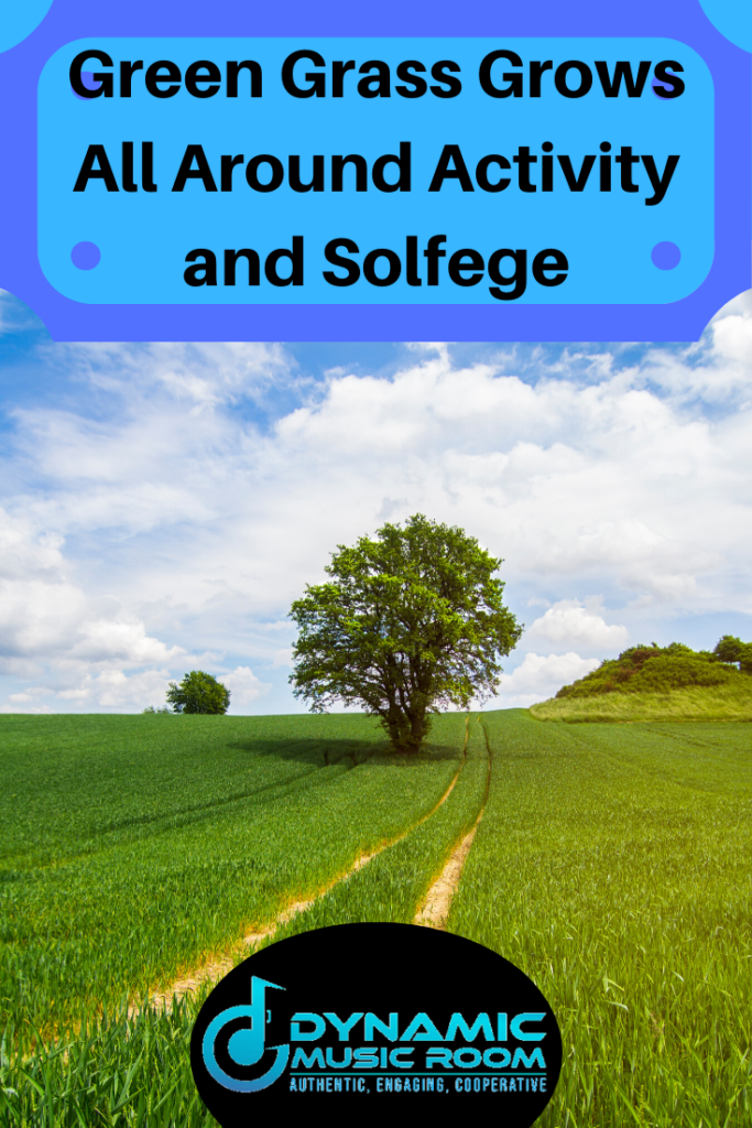 image green grass grows all around activity and solfege pin