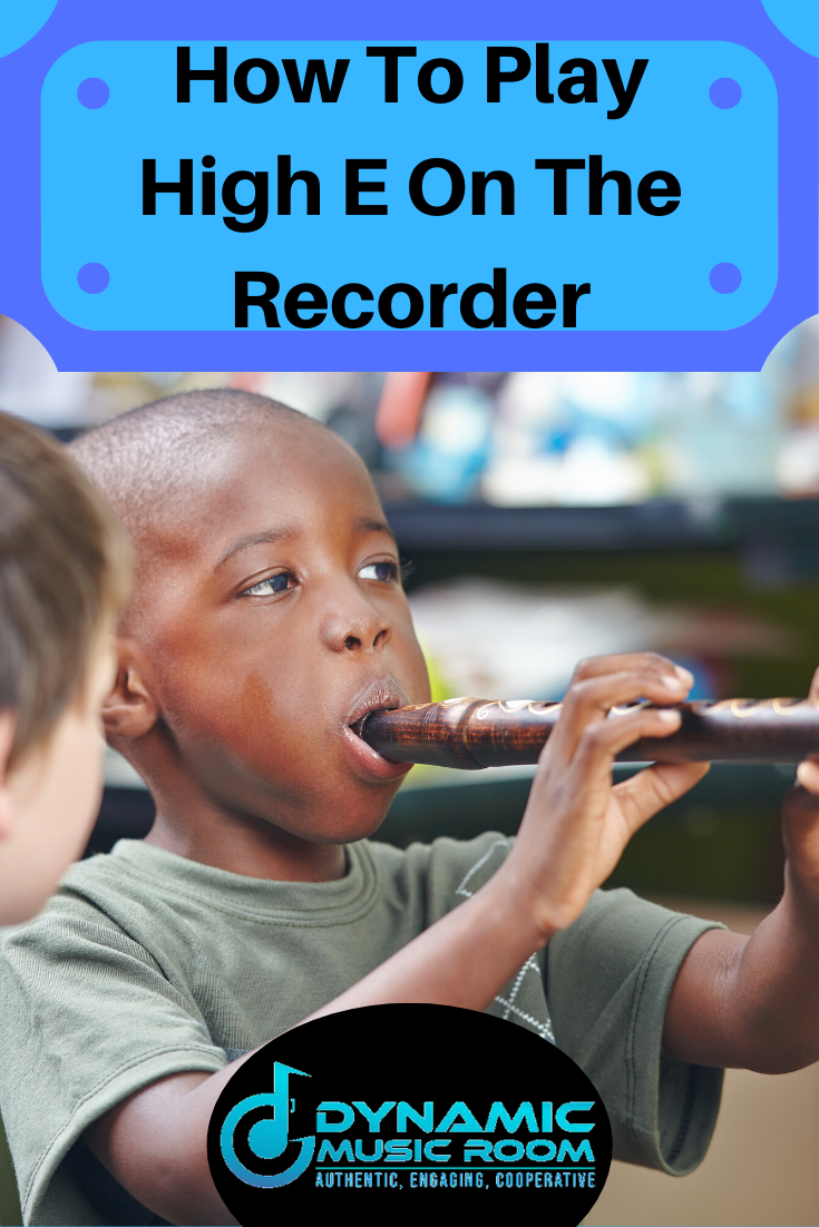 image how to play high e on the recorder pin
