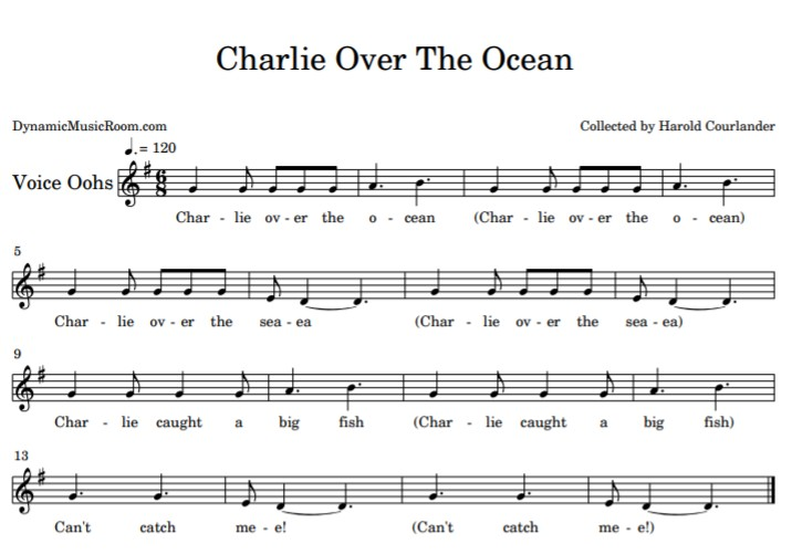 image charlie over the ocean sheet music