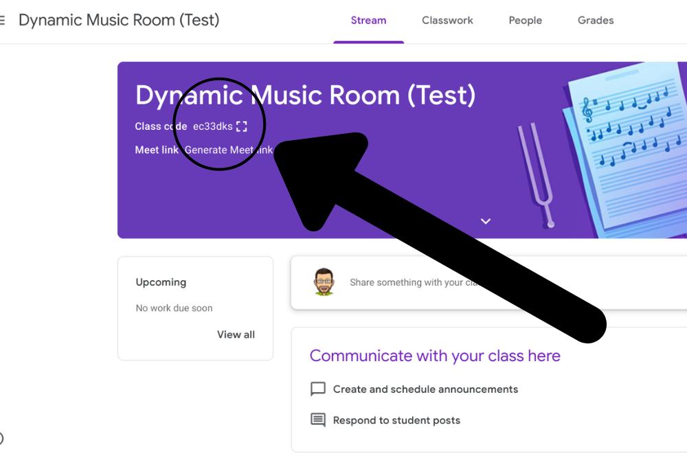 music google classroom code