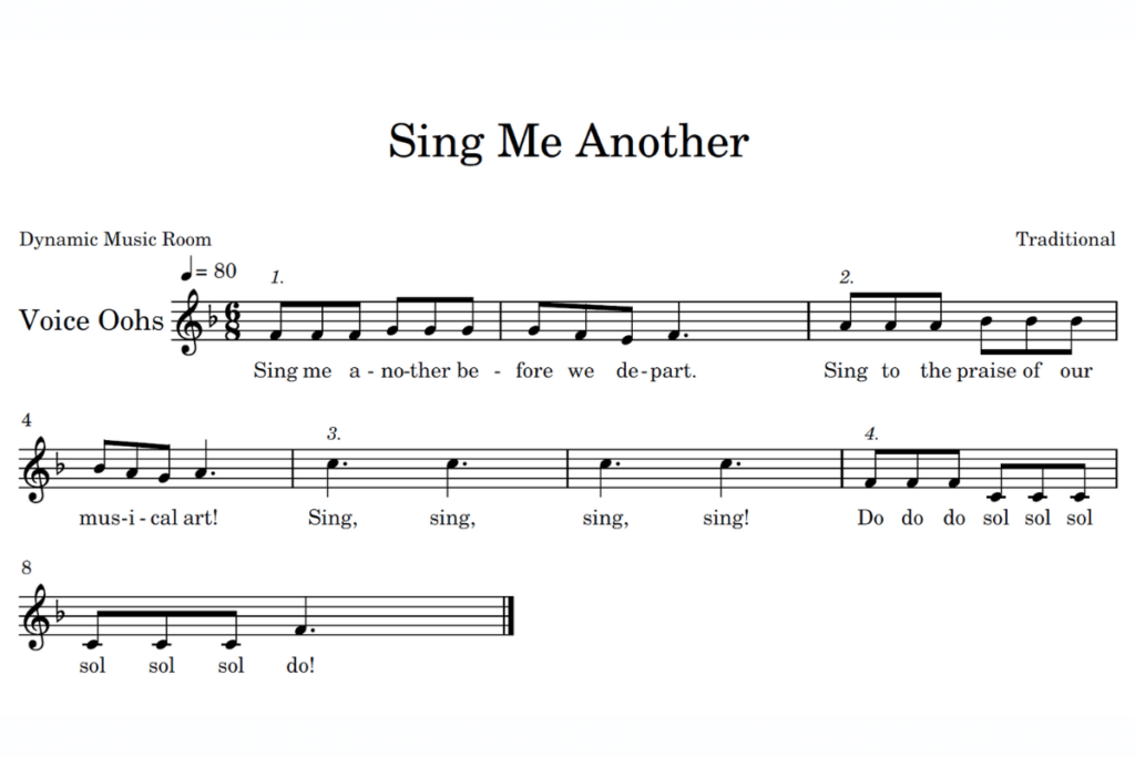 sing me another sheet music