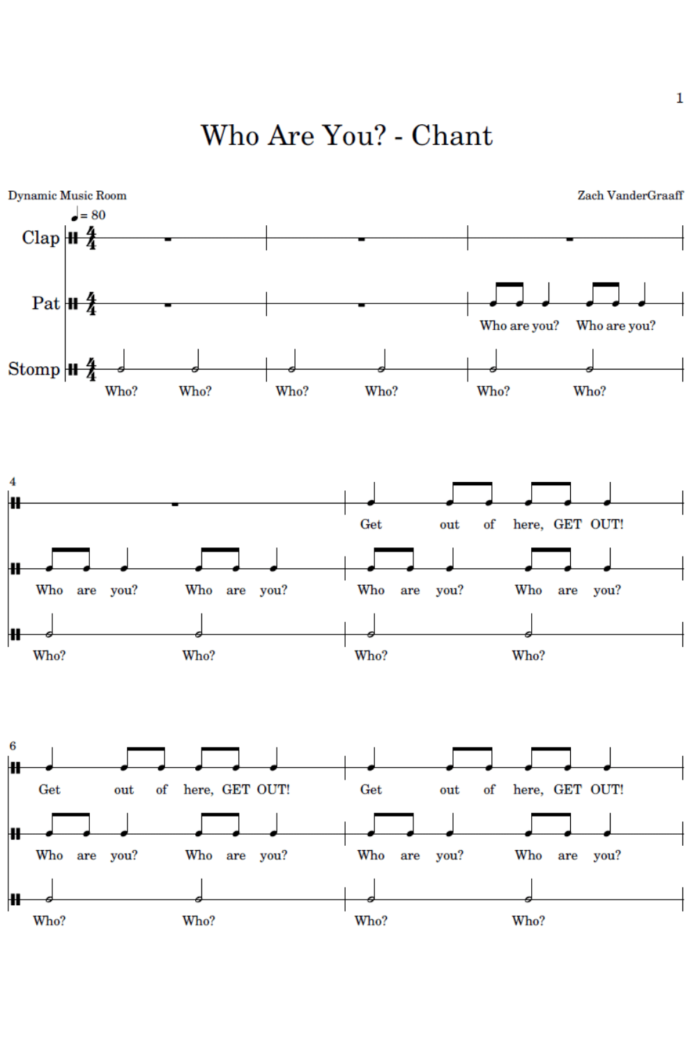 who are you chant notation